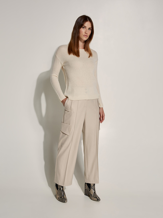 Caractere New season preview Beige - Caractère Pantaloni tipo cargo fluidi Donna Beige