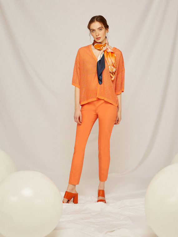 Caractere Abbigliamento > Pantaloni e jeans Arancione - Caractère Pantaloni skinny tailor made Donna Arancione