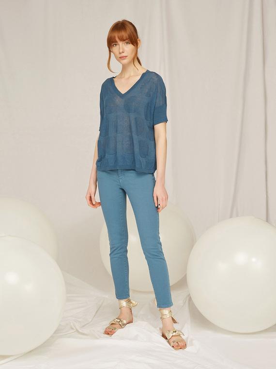 Caractere Abbigliamento > Pantaloni e jeans Blu - Caractère Pantaloni skinny in denim color Donna Blu
