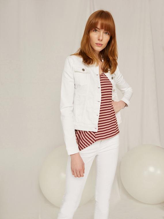 Caractere Cappotti e giacche > Cappotti e giubbotti Bianco - Caractère Giubbotto in denim color Donna Bianco