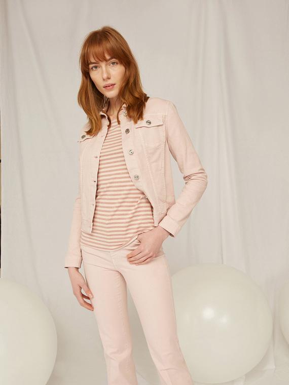Caractere Cappotti e giacche > Cappotti e giubbotti Rosa - Caractère Giubbotto in denim color Donna Rosa