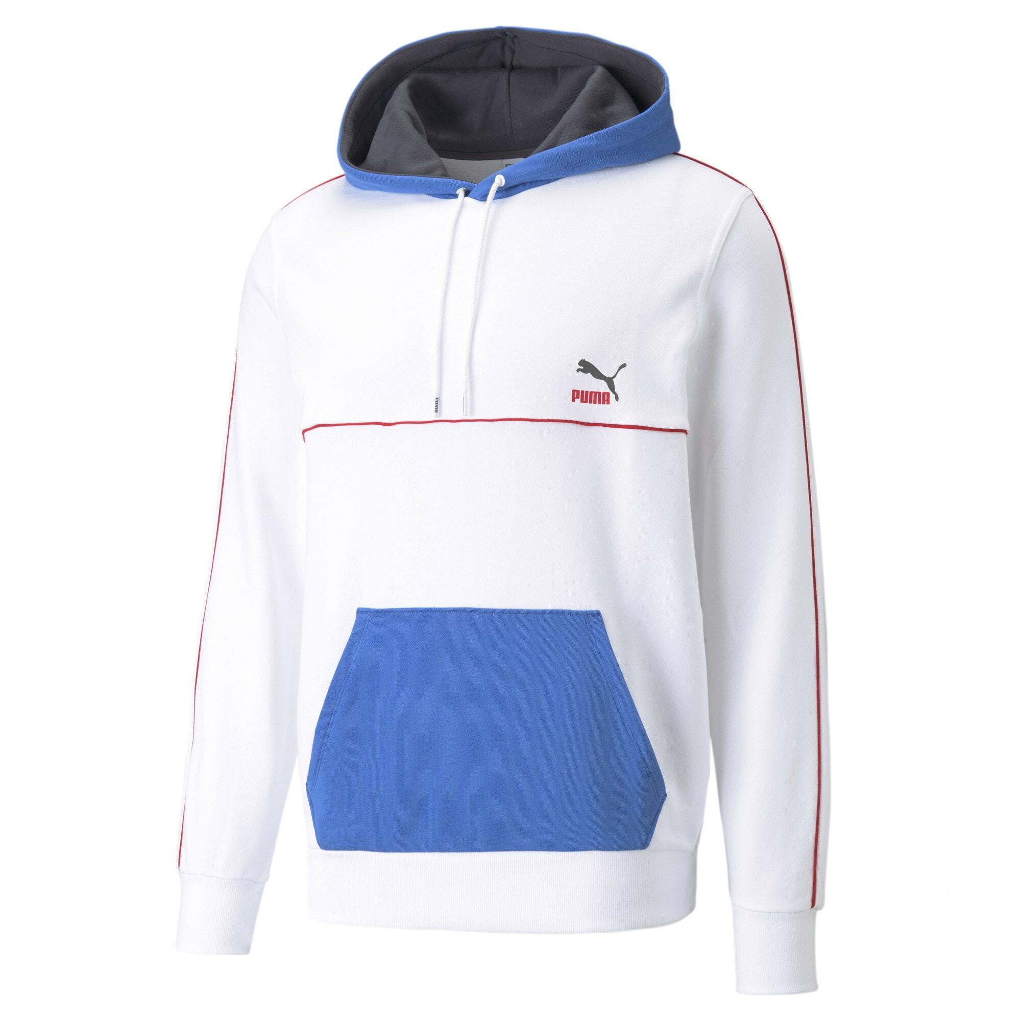 PUMA Felpa  bianco / blu cobalto / rosso male shop the look
