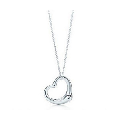 2016new Popular High-end Jewelry Necklace Silver Plated Peach Heart Pendant Necklace Jewelry Best Friends Heart Gifts For Women