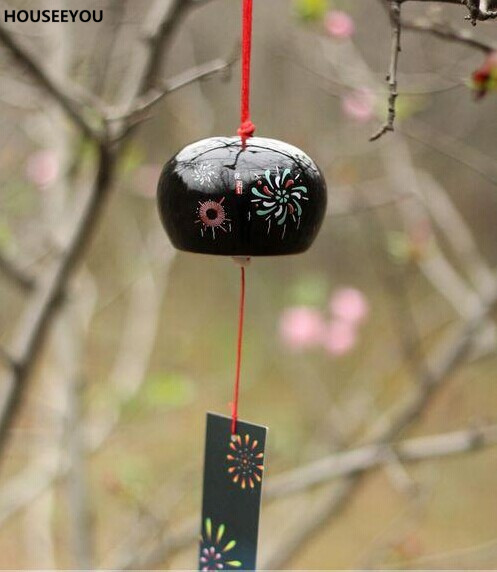Japanese Ceramic Wind Chimes for Garden Outdoor Lucky Wind Bells Hanging Decorations Wind-bell Home Decor Crafts Ornaments Gifts