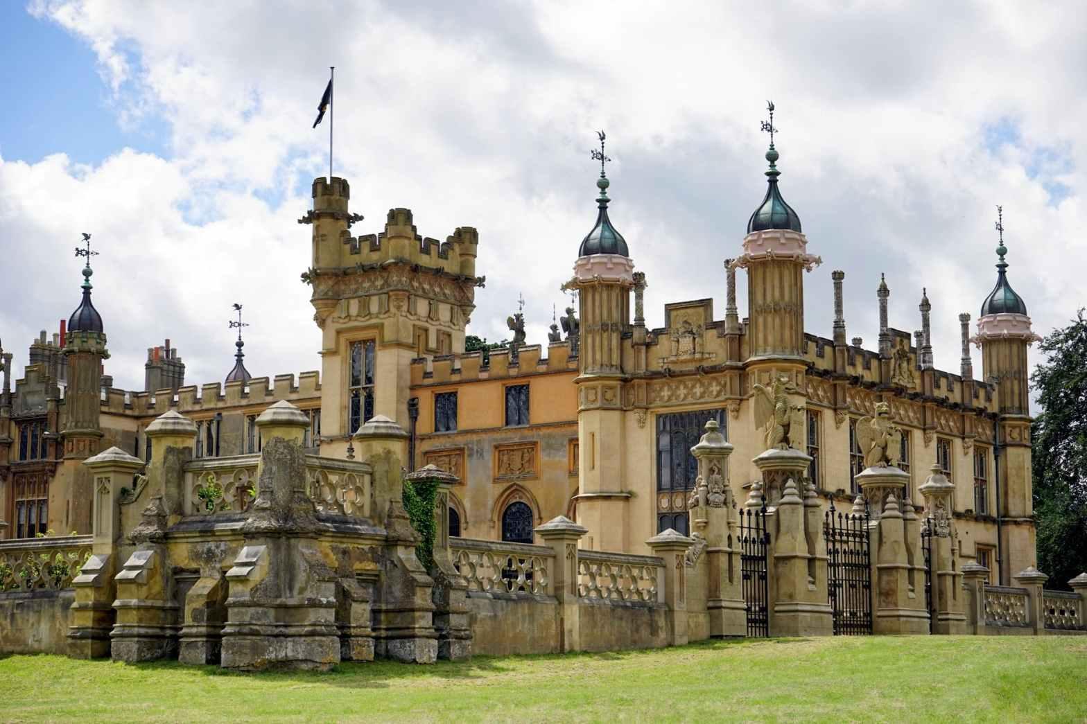 beige castle under white clouds