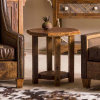 Stony Brooke Reclaimed Barn Wood Octagon Side Table