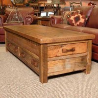 Stony Brooke Reclaimed Barn Wood 4 Drawer Coffee Table