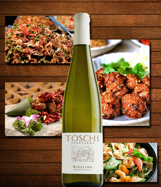ruou vang Riesling Toschi