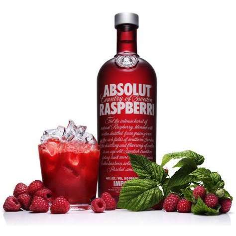 ruou vodka absolut Raspbery