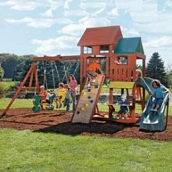 Big Backyard By Solowave® 'crestwood Lodge' Wooden Play