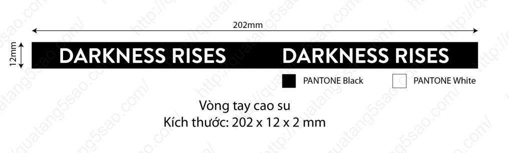 Vòng tay cao su dành cho game thủ Darkness rises