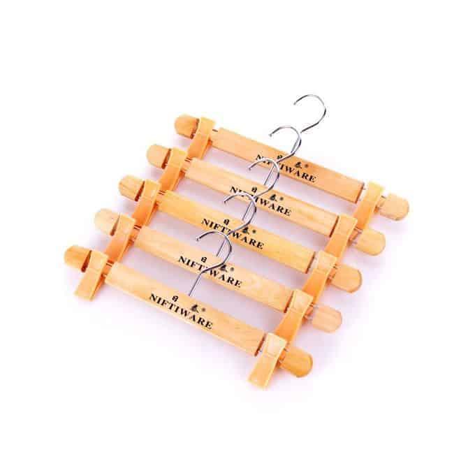 Wooden Clothes Hanger-5 Pieces Brown