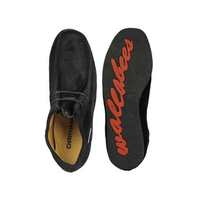Wallabees Black Suede Shoe