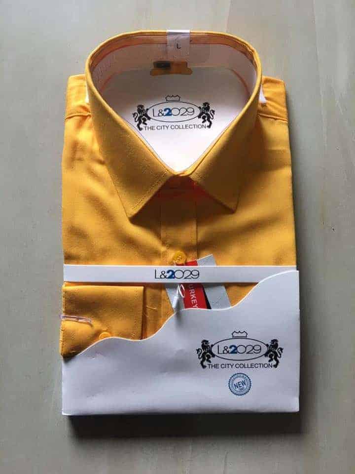 City collection-L&2029 shirt .Gold colour