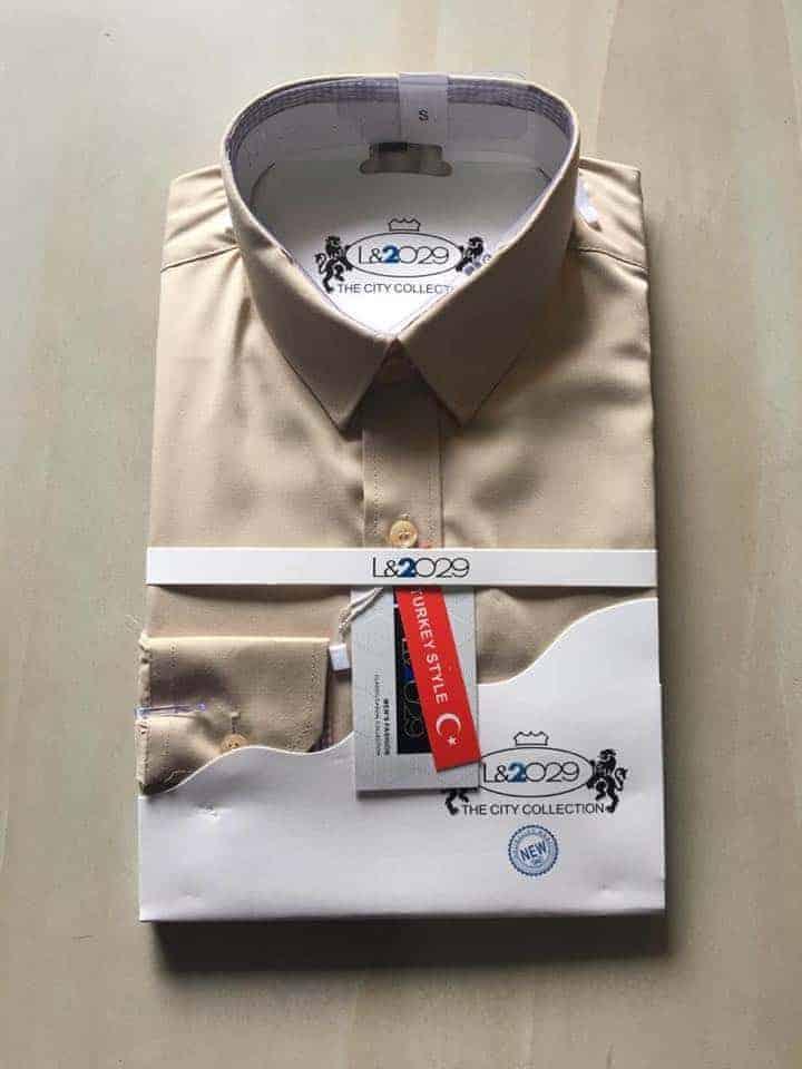 City collection-L&2029 shirt . Bone colour