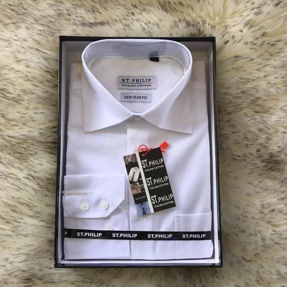 ST.Philip-NEW SLIM FIT shirt .White colour