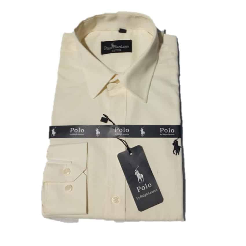 Polo Cream Long Sleeve Shirt