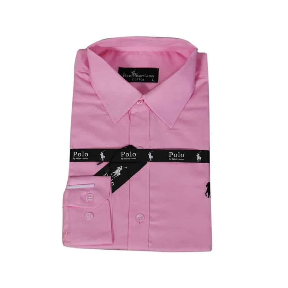 Polo Pink Long Sleeve Shirt
