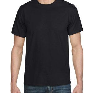 Black Gildan Plain T-Shirt