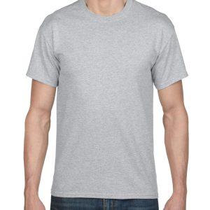 Grey Gildan Plain T-Shirt