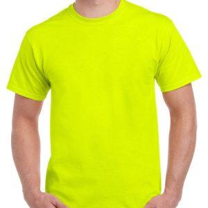 Safety Green Gildan Plain T-Shirt