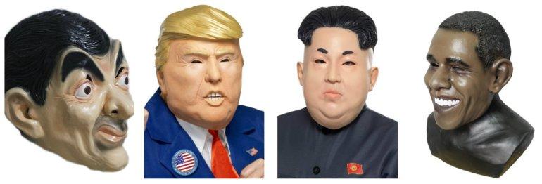 fastelavnsmaske karnevalsmaske donald trump maske diktator maske obama maske latex maske mr bean maske