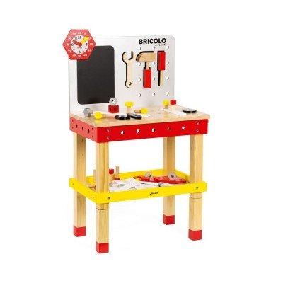 arbejdsbænk til børn børneværksted værktøjsbænk til børn janod træ værkstedsbænk redskabsbænk arbejdsbænk gave til 2 årig dreng gave til 3 årig dreng