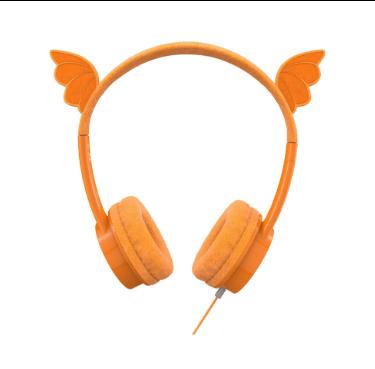 høretelefoner til børn drage headset til børn dragon høretelefoner til børn orange høretelefoner til børn little rockerz hørebøffer dragevinger høretelefoner