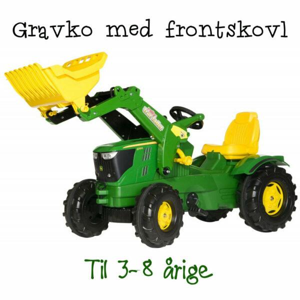 john deere legetraktor john deere pedaltraktor john deere traktor gave til 3 årig traktor med frontskovl 4 årig luksus gravko grøn gravko til landmand 600x600 - John Deere køretøj