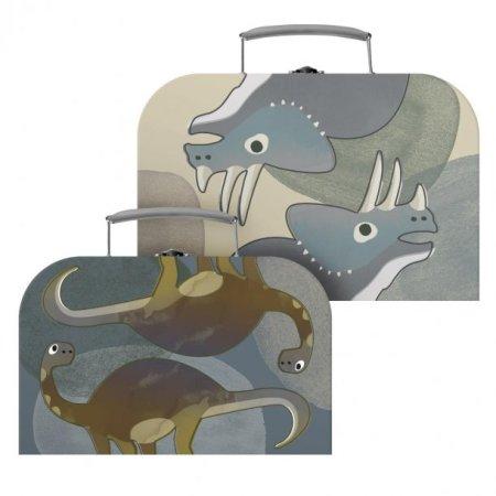 Dinosaurus legetøj dino kuffert til leg legetøjskuffert med dino dino sebra
