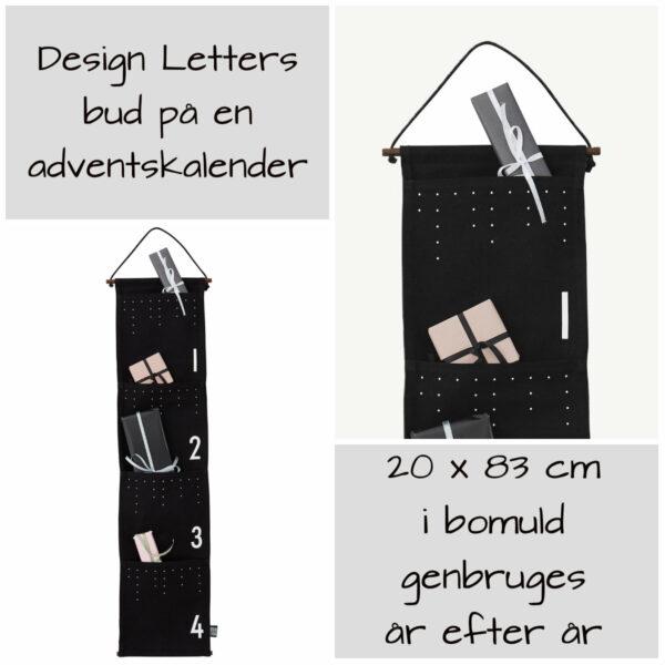 design letters adventskalender ophæng design letters adventspakker ophæng pakkekalender med lommer design letters pakkekalender 4 lommer til pakkekalendergaver