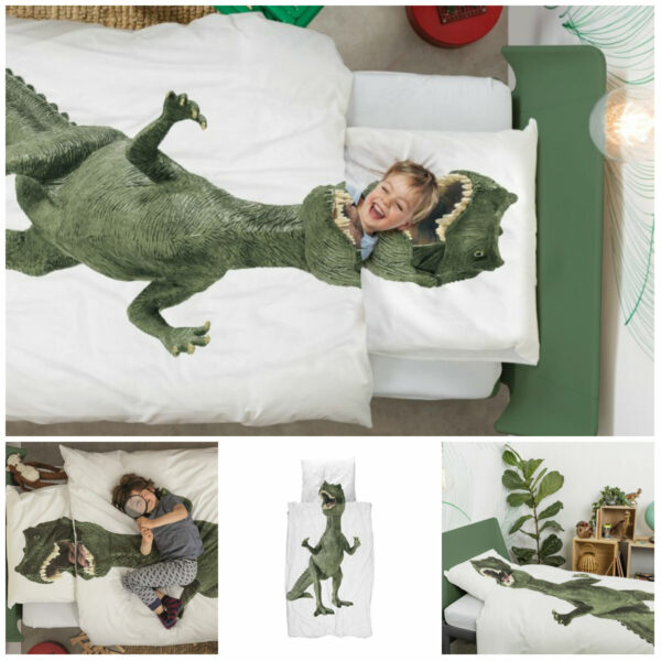 snurk dino sengetøj snurk dinosaur sengetæj voksendyne dinosaur sengetøj juniordyne t-rex sengetøj