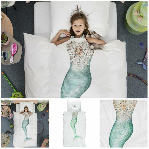 snurk havfrue sengetøj snurk sengetøj med havfrue tema voksendyne sengetøj med havfrue juniordyne sengetøj havfrue indret børneværelse med havfrue tema