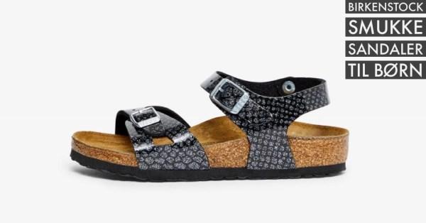 sorte birkenstock sandaler til piger