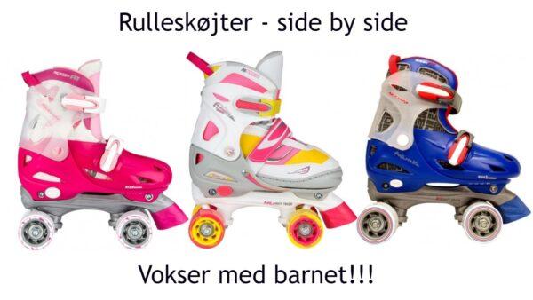 rulleskøter pink rulleskøjter blå rulleskøjter side by side rulleskøjter til børn 600x338 - Rulleskøjter side by side