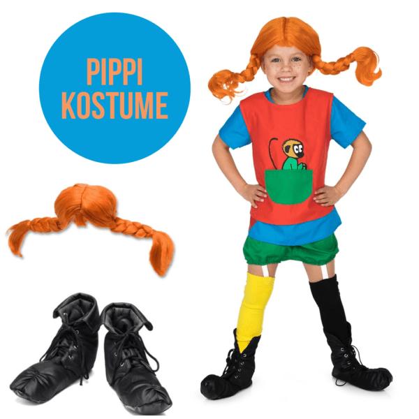 Pippi udklædning Pippi kostume til børn Pippi børnekostume Pippi tema Pippi navn Pippi