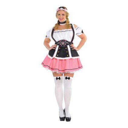 oktoberfest kostume plus size kostume tyrolerkjole XXXL - Plus size oktoberfest kostumer