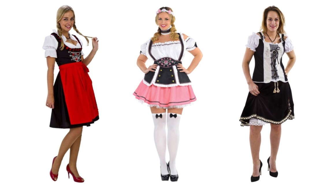 oktoberfest kostume plus size tyrolerkjole