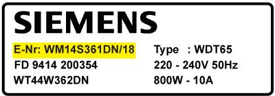 siemens modelnummer - Kul til Siemens vaskemaskine motor - til alle modeller
