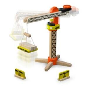 kran legetøjskran i træ kran i træ trælegetøj til 3 årig trælegetøj til drenge trælegetøj til 4 årige