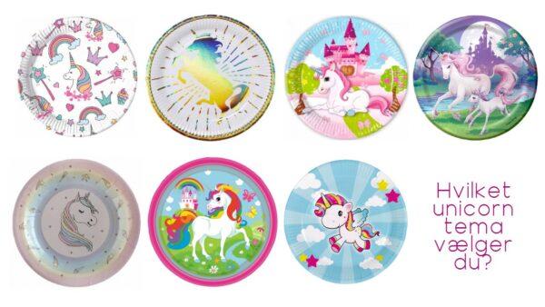 unicorn temafest unicorn festtema enhjørning børnefødselsdag enhjørning temafest bordpynt