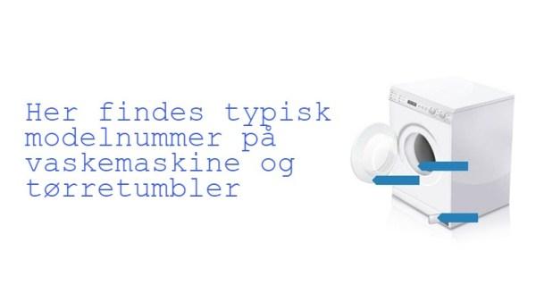 vaskemaskine modelnummer hvorhenne hvor finder jeg modelnummer på vaskemaskine hvor findes modelnummer tørretumbler - Varmelegeme til BOSCH tørretumbler
