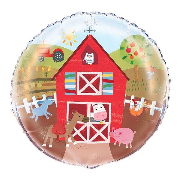 bondegård balloner bondegårdstema balloner folie baloner børnefødselsdag dreng 3 år
