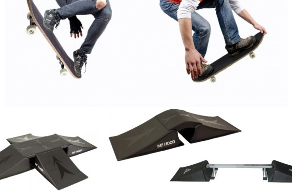 Rampe til skateboard og løbehjul