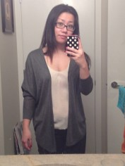 Same cardigan from Ricki's but in grey.
