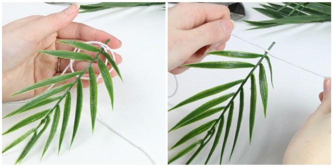 Easy Palm Leaf Banner DIY Greenery shop with kendallyn blog