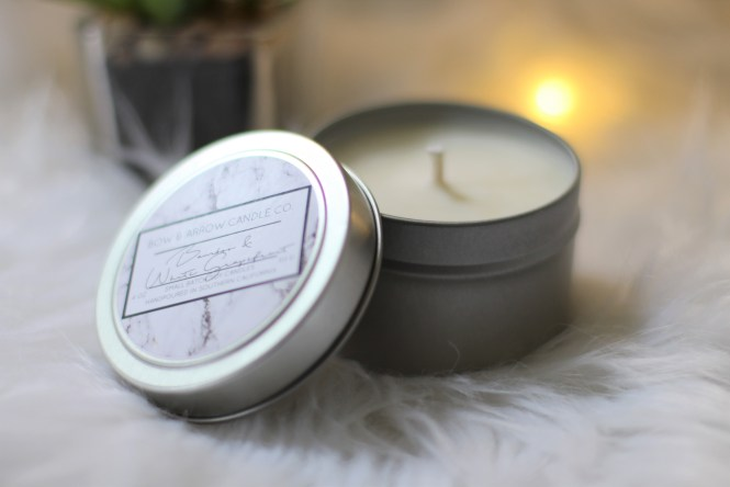 Shop with Kendallyn Blog, The Bow & Arrow Candle Co. Etsy Shop, Soy Candles, Bamboo & White Grapefruit