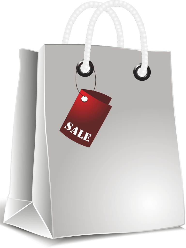 Shopping Bag with Sale Sign