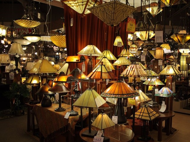 Lighting that includes pendants and table lamps