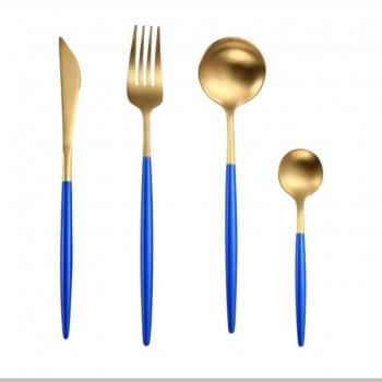 marigot blue gold cutlery